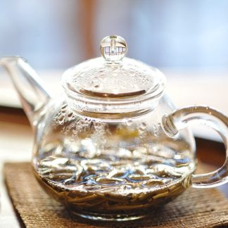 jasmine tea in pot